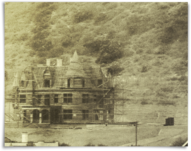 The Lane Mansion under construction, circa 1907